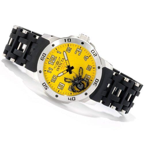 インビクタ 時計 インヴィクタ メンズ 腕時計 Invicta Sea Spider Quartz Yellow Dial Mens Watch 1121