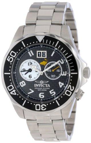 """インビクタ 時計 インヴィクタ メンズ 腕時計 Invicta Men""""s 14440 Pro Diver Black Carbon Fiber Dial Stainless Steel Watch"""