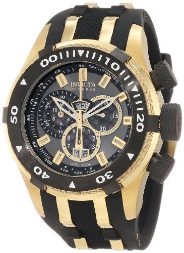 インビクタ 時計 インヴィクタ メンズ 腕時計 Invicta Men's 0980 Bolt Reserve Chronograph Gunmetal Dial Black Polyurethane Watch