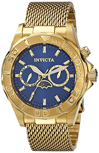 "インビクタ 時計 インヴィクタ メンズ 腕時計 Invicta Men""s 10598 """"Pro Diver"""" 18k Gold Ion-Plated Watch with Mesh and Link Bracelet"