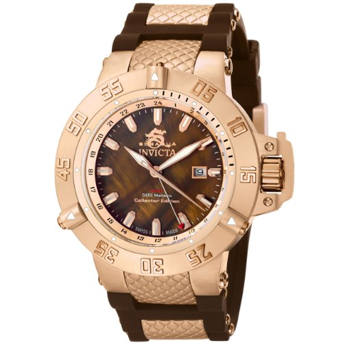 "インビクタ 時計 インヴィクタ メンズ 腕時計 Invicta Men""s 0739 Subaqua Noma II Collection Brown Dial Brown Polyurethane Watch"