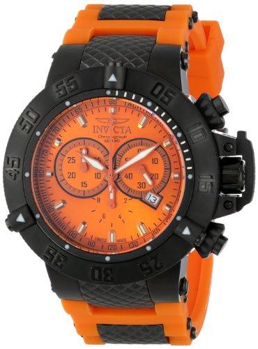 """インビクタ 時計 インヴィクタ メンズ 腕時計 Invicta Men""""s 11836 Subaqua Noma III Analog Display Swiss Quartz Orange Watch"""