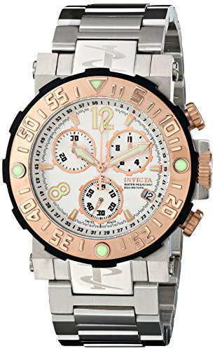 "インビクタ 時計 インヴィクタ メンズ 腕時計 Invicta Men""s 10587 Reserve Chronograph White Textured Dial Stainless Steel Watch"