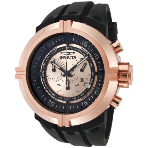 """インビクタ 時計 インヴィクタ メンズ 腕時計 Invicta Men""""s 0849 Force Collection Chronograph Rose Dial Black Polyurethane Watch"""