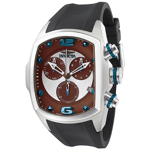 """インビクタ 時計 インヴィクタ メンズ 腕時計 Invicta Men""""s 6102 Lupah Collection Revolution Chronograph Black Polyurethane Watch"""