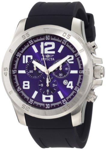 """インビクタ 時計 インヴィクタ メンズ 腕時計 Invicta Men""""s 1914 Specialty Chronograph Blue Dial Blue Polyurethane Watch"""