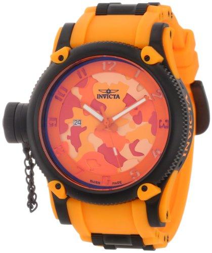 インビクタ 時計 インヴィクタ メンズ 腕時計 Invicta Men's 11335 Russian Diver Orange Camouflage Dial Orange Polyurethane Watch
