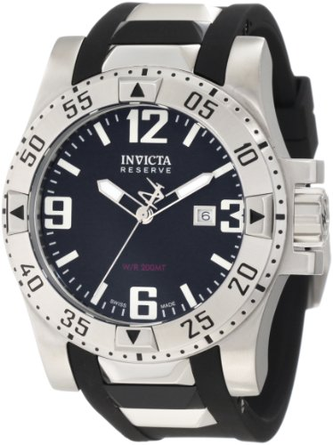 インビクタ 時計 インヴィクタ 腕時計 Invicta Stainless Steel Reserve Excursion Black Rubber Strap 6252