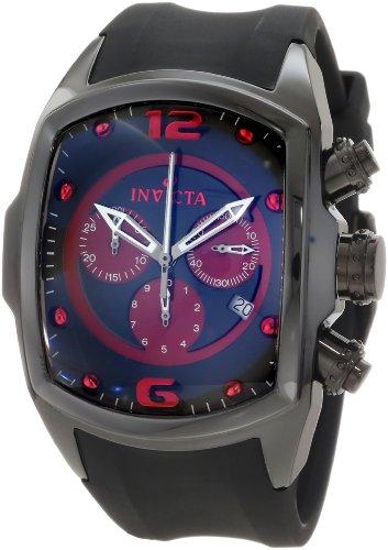 """インビクタ 時計 インヴィクタ メンズ 腕時計 Invicta Men""""s 0313 Lupah Revolution Chronograph Black and Red Dial Watch"""