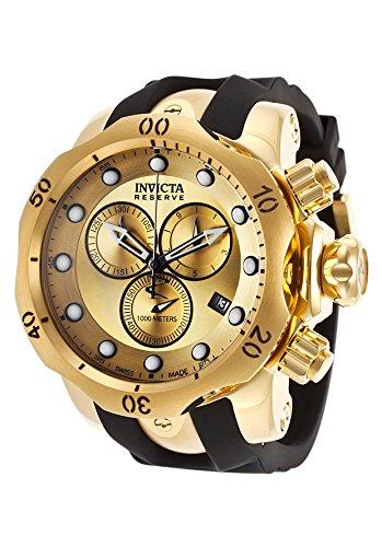 """インビクタ 時計 インヴィクタ メンズ 腕時計 Invicta Men""""s 16985 Venom Quartz Chronograph Gold Dial Watch"""