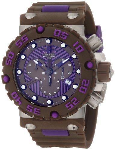 インビクタ 時計 インヴィクタ メンズ 腕時計 Invicta Men's 10044 Subaqua Nitro Diver Chronograph Brown and Purple Dial Brown Watch