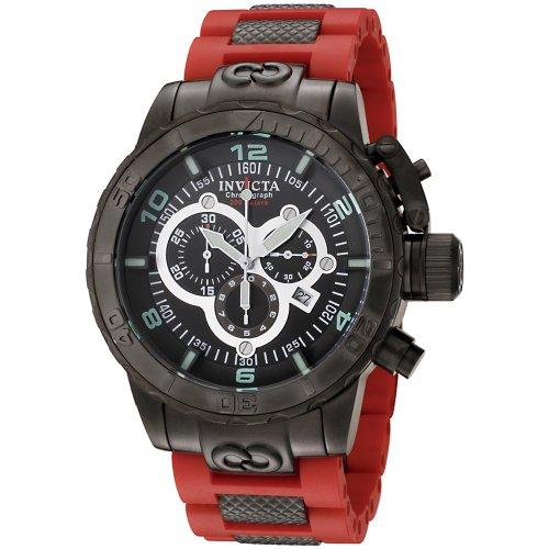 """インビクタ 時計 インヴィクタ メンズ 腕時計 Invicta Men""""s 6680 Corduba Ibiza Collection Black Ion-Plated Chronograph Watch"""