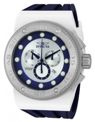 "インビクタ 時計 インヴィクタ メンズ 腕時計 Invicta Men""s Akula Sport Swiss Chronograph Silver Blue Dial Blue Silicone Strap Watch 12327"