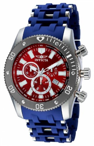 インビクタ 時計 インヴィクタ メンズ 腕時計 Invicta 80018 Men's Sea Spider Quartz Chronograph Stainless Steel & Polyurethane Bracelet Watch