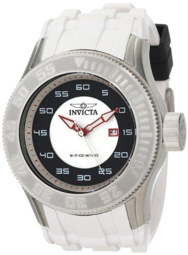 """インビクタ 時計 インヴィクタ メンズ 腕時計 Invicta Men""""s 11938 Pro Diver White and Black Dial White Polyurethane Watch"""