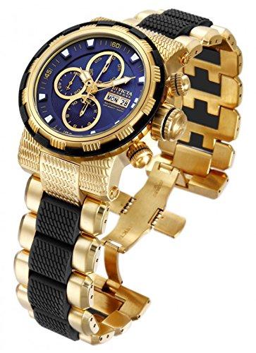 インビクタ 時計 インヴィクタ メンズ 腕時計 Invicta Mens Reserve Capsule Swiss Made Valjoux 7750 Automatic 18k GP SS Blue Dial Watch 124976Yyvbfg7