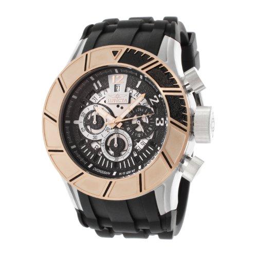 インビクタ 時計 インヴィクタ メンズ 腕時計 Invicta Men's 14024 Pro Diver Chronograph Black Textured Dial Black Polyurethane Watch