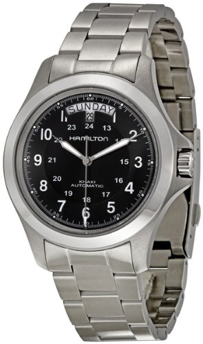 ハミルトン カーキ メンズ 腕時計 Hamilton Men's H64455133 Khaki King II Black Dial Watch