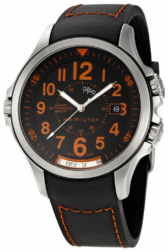 "ハミルトン カーキ メンズ 腕時計 Hamilton Men""s H77695333 Khaki GMT Black Dial Watch"