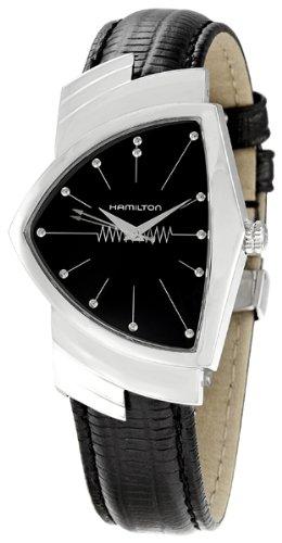 ハミルトン ベンチュラ メンズ 腕時計 Hamilton Mens H24411732 Ventura Analog Display Quartz Black Watch