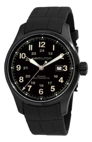 """ハミルトン カーキ メンズ 腕時計 Hamilton Men""""s H70685333 Khaki Field Black Automatic Dial Watch"""