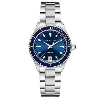 ハミルトン ジャズマスター レディース 腕時計 Hamilton Jazzmaster Seaview Blue Dial Stainless Steel Ladies Watch H37451141