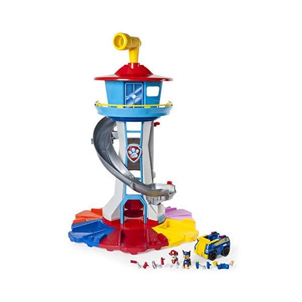 パウ パトロール 犬のレスキュー隊 おもちゃ 知育玩具 PAW Patrol My Size Lookout Tower with Exclusive Vehicle, Rotating Periscope & Lights & Sounds