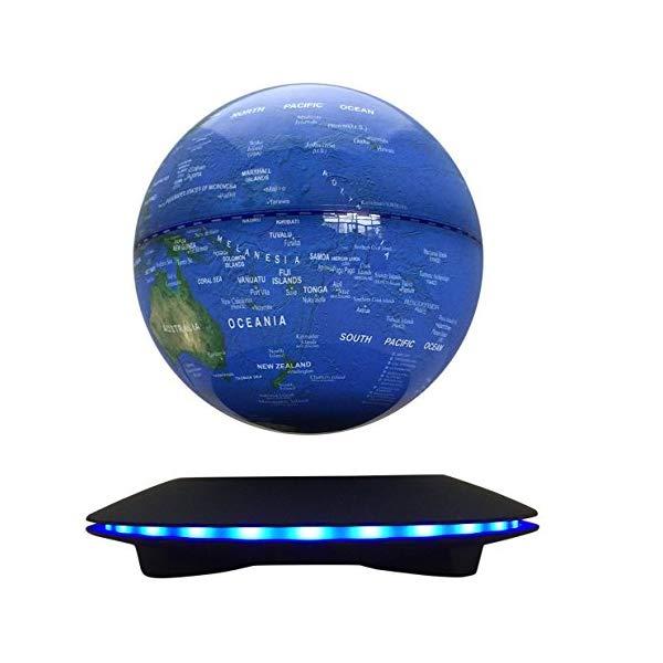 地球 地球儀 磁気浮上 マグネット マジック フロート LEDライト 回転 浮いている オブジェ Woodlev Maglev Magnetic Levitation Levitron Floating Rotating Wireless Transmission Touch Control Three Gears 6