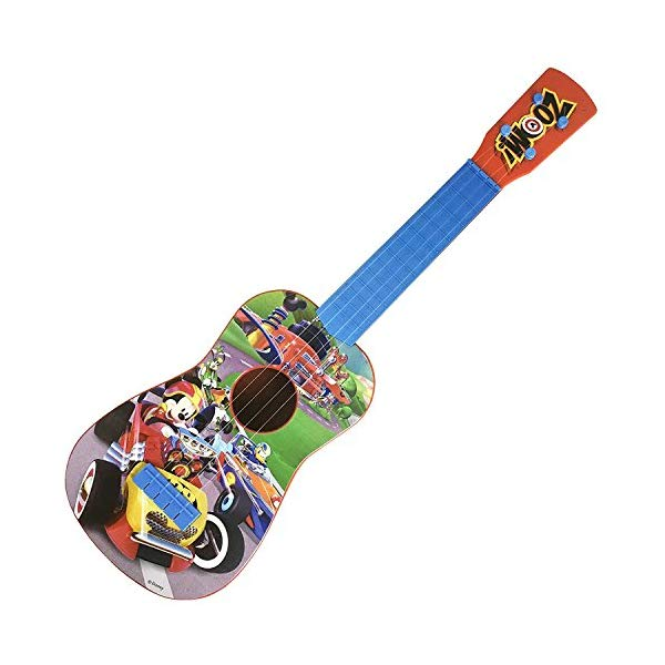 ディズニー ミッキー ギター 24インチ キッズ ジュニア Disney Mickey Mouse Clubhouse Music Play Guitar | 4 Real Guitar String | 24 Inches long - Ukulele Size | Kids Toy Gift