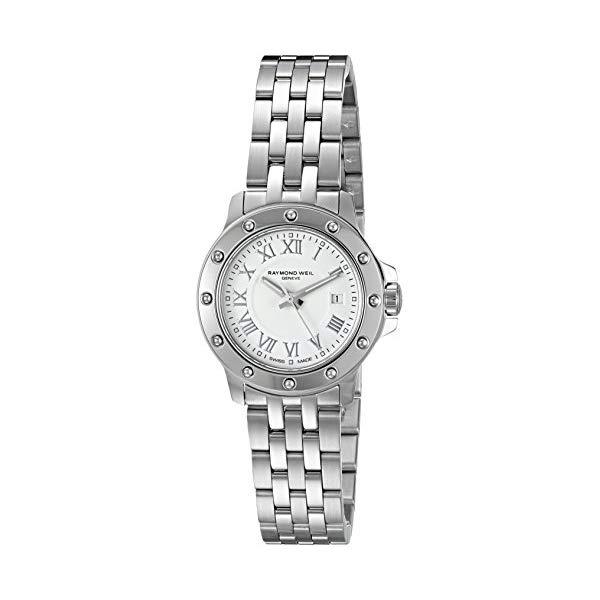 レイモンドウィル レディース 腕時計 Raymond Weil Women's 5399-ST-00308 Tango White Roman Numerals Dial Watch