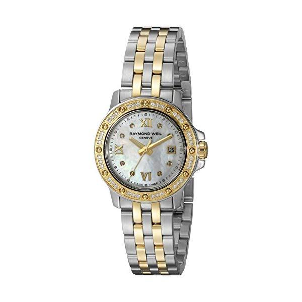 レイモンドウィル レディース 腕時計 Raymond Weil Women's 5399-SPS-00995 Tango Stainless Steel Two-Tone Dress Watch with Diamonds