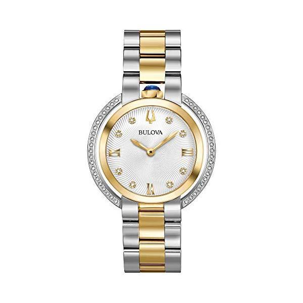 ブローバ ルバイヤート レディース 腕時計 Ladies' Bulova Rubaiyat Diamond Two-Tone Yellow Gold Tone and Stainless Steel Watch 98R246