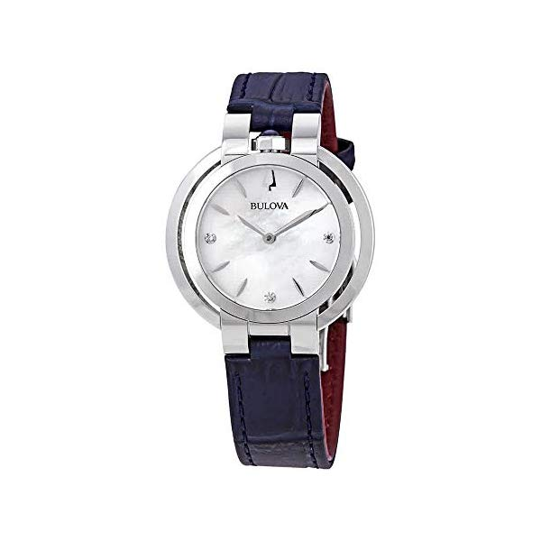 ブローバ ルバイヤート レディース 腕時計 Bulova 96P196 Rubaiyat Women's Watch Blue 35mm Stainless Steel
