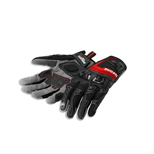 ドゥカティ グローブ 手袋 サマー テキスタイル XXLサイズ ブラック レッド 黒 赤 Ducati 981028277 Summer Textile Gloves - XXL