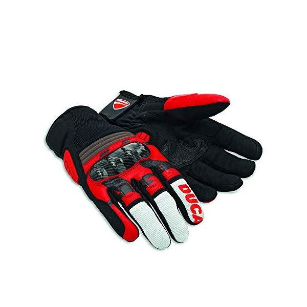 ドゥカティ C2 グローブ ロゴ 手袋 XXLサイズ ブラック 黒 Ducati All Terrain C2 Gloves 98103510 (XXL)