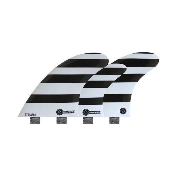 サーフボード フィン FCS Shapers Fins Corelite S7 Large five fin quad/tri set Small surfboard fins
