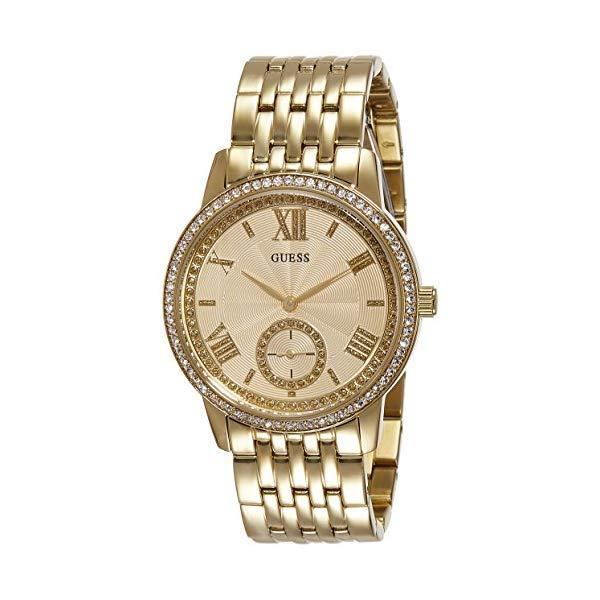 ゲス レディース腕時計 Guess Women's GRAMERCY Gold-Tone Steel Bracelet & Case Quartz Analog Watch W0573L2
