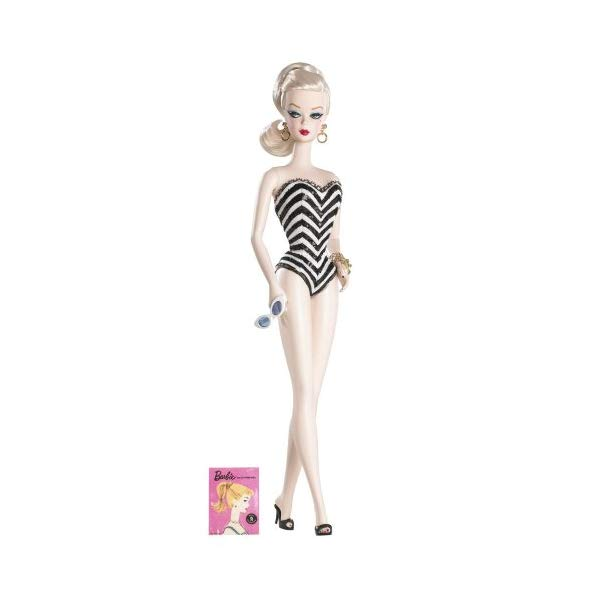 バービー 人形 フィギュア シルクストーン Debut Barbie Doll Fashion Model Silkstone 1959 Reproduction