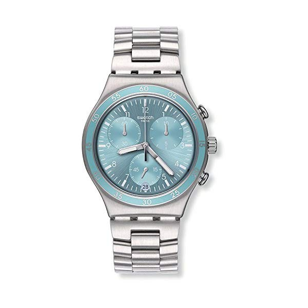 スウォッチ レディース腕時計 Swatch Irony Clear Water Blue Dial Stainnless Steel Ladies Watch YCS589G