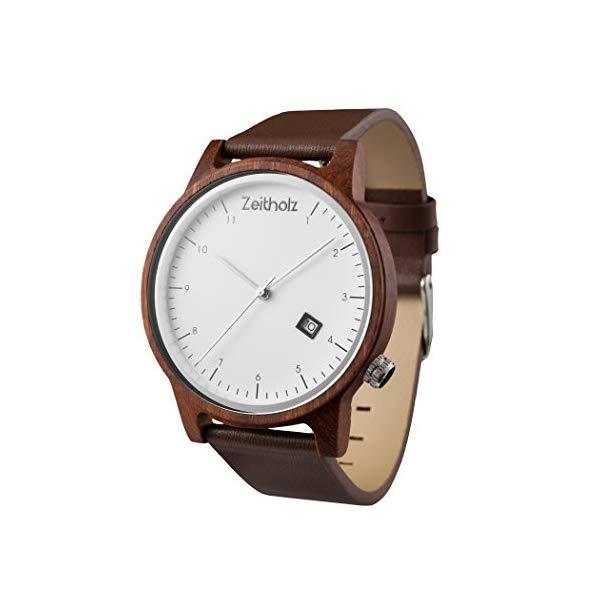 ゼイソルズ ZEITHOLZ ツァイトホルツ 木製 腕時計 ウッドウォッチ メンズ レディース ユニセックス 男女兼用 エコ 天然 サスティナブル Wooden Watch for Men and Women 100% Natural Sandalwood Case Leather Wrist Band Eco-Friendly Unique Watches for Men and Women