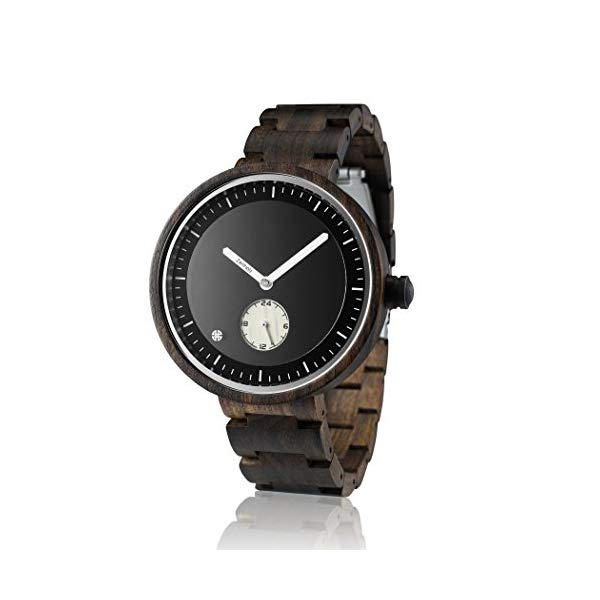 ゼイソルズ ZEITHOLZ ツァイトホルツ 木製 腕時計 ウッドウォッチ メンズ 男性用 エコ 天然 サスティナブル Wooden Watch for Men 100% Natural Sandalwood Case Gift Box Eco-Friendly Unique Watches for Men