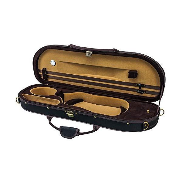スカイ バイオリン ケース ヴァイオリン 4/4 サイズ ライトウェイト ハーフ ムーン シェイプ (ブラック) SKY Lightweight Half Moon Shaped Violin Case 4/4 Size (Black)