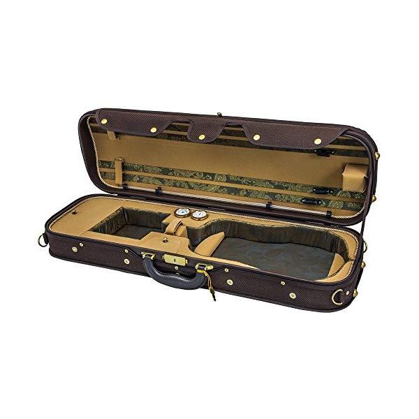 スカイ バイオリン オブロング ケース ヴァイオリン ウッド 湿度計 (コーヒー/カーキ) Sky Violin Oblong Case VNCW05 Solid Wood with Hygrometers Coffee/Khaki