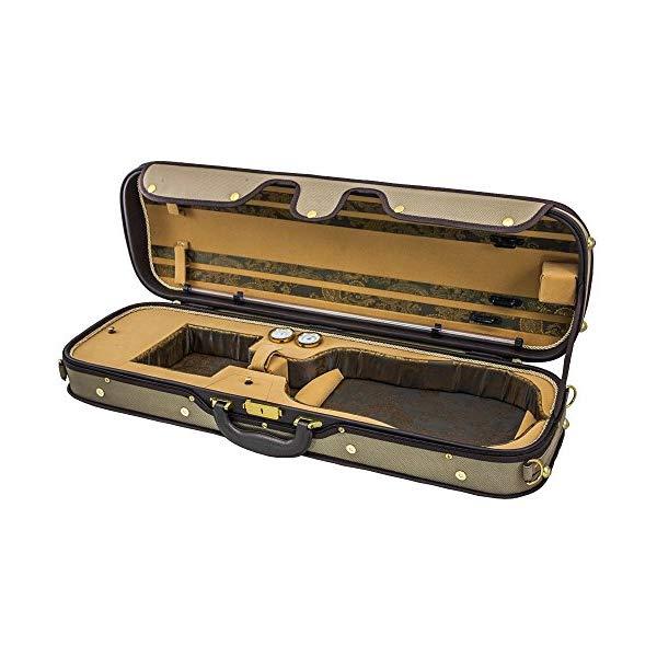 スカイ バイオリン オブロング ケース ヴァイオリン ウッド 湿度計 (カーキ/カーキ) Sky Violin Oblong Case VNCW01 Solid Wood with Hygrometers Khaki/Khaki