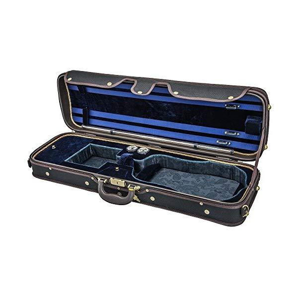 スカイ バイオリン オブロング ケース ヴァイオリン ウッド 湿度計 (ブラック/ブルー) Sky Violin Oblong Case VNCW02 Solid Wood with Hygrometers Black/Blue