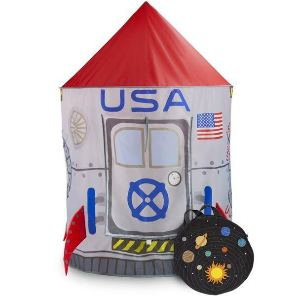 スペースアドベンチャー 子供用テント Space Adventure Roarin' Rocket Play Tent with Milky Way Storage Bag ? Indoor/Outdoor Children's Astronaut Spaceship Playhouse, Great for Ball Pit Balls and Pretend Play by Imagination Generation