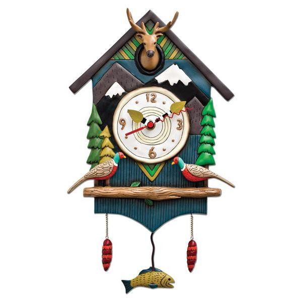 アレンデザイン 壁時計 Allen Designs Mountain Time House Pendulum Clock