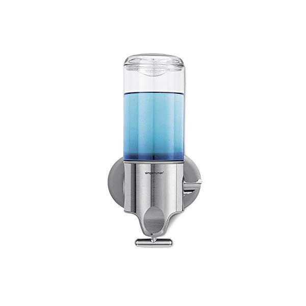 シンプルヒューマン ディスペンサー シングル シャンプー simplehuman Wall Mount Pumps, Single 15 fl. oz. Shampoo & Soap Dispenser, Stainless Steel