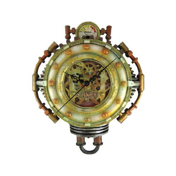 パシフィックギフトウェア 掛け時計 Pacific Giftware Cool 3-D Steampunk Wall Clock Steam Punk Sci-Fi