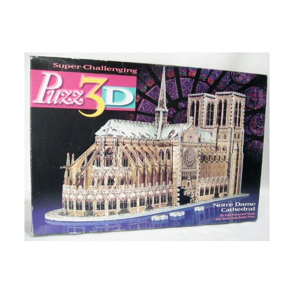 ノートルダム大聖堂 ジグソーパズル Wrebbit Toys - Puzz 3d 952 pieces Jigsaw Puzzle Notre Dame de Paris Cathedral